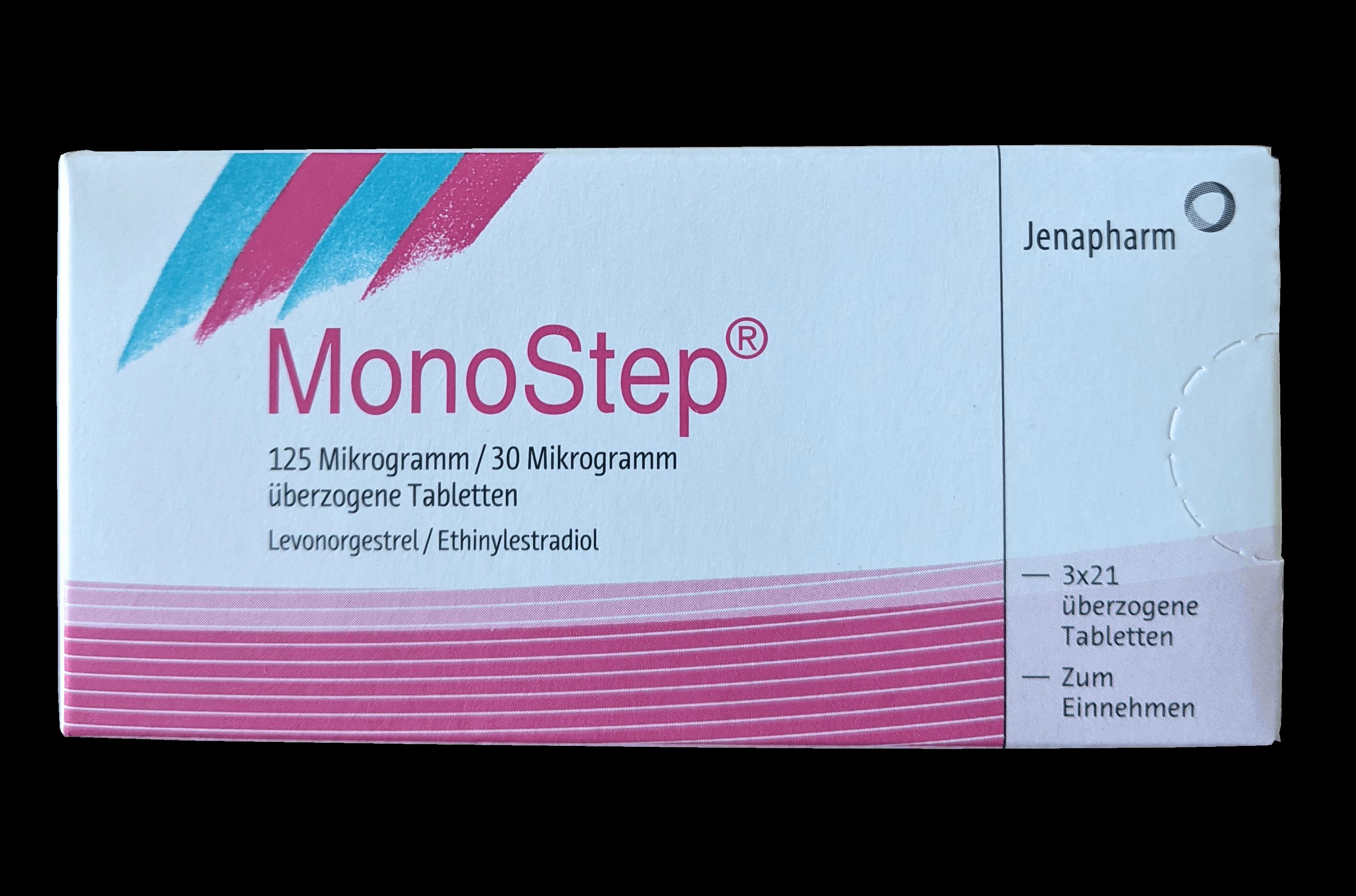 Pille MonoStep - Art, Wirkstoffe, Einnahme, Nebenwirkungen